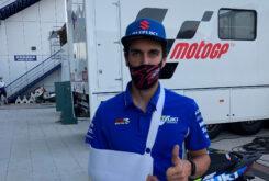 Alex Rins MotoGP Jerez 2020 lesion