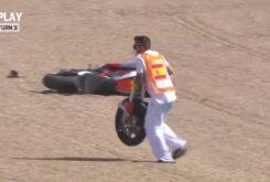 Caida Stefano Manzi Moto2 Jerez 2020