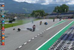 Accidente Moto2 Carrera Austria 2020