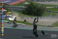Accidente MotoGP Carrera Austria 2020