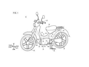 Honda Super cub electrica patente