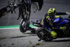 Valentino Rossi accidente MotoGP Austria 2020