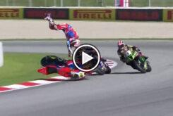 Caida Alvaro Bautista Highside Honda WSBK Cataluña10apPlay