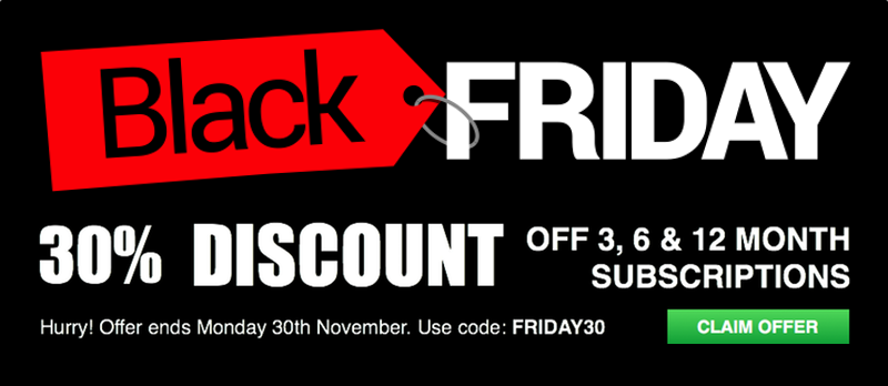 Black Friday - 30% Discount