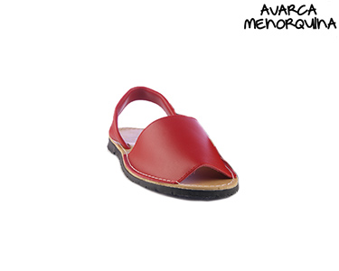 Sandálias Menorquinas para Criança | Vermelho