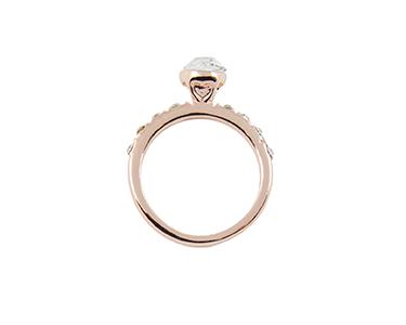 Anel Livorno Banhado a Ouro Rosa c/ Swarovski Elements®