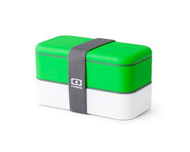 Marmita Original c/ Dois Compartimentos   Verde e Branco