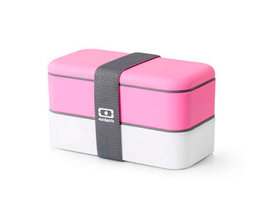Marmita Original c/ Dois Compartimentos | Rosa e Branco