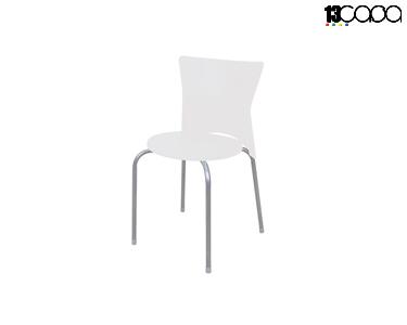 Conjunto de 4 Cadeiras | Branco