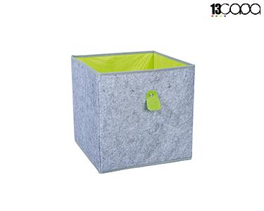Caixa Desdobrável Fanny | Cinza e Verde