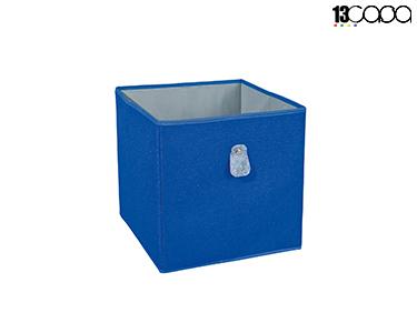 Caixa Desdobrável Fanny | Cinza e Azul