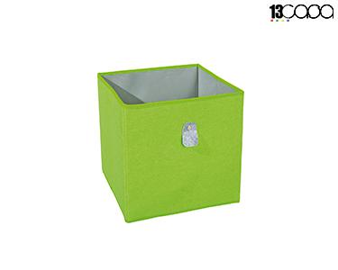 Caixa Desdobrável Fanny | Verde e Cinza