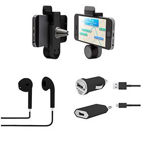 Pack Essencial para Smartphone | Preto