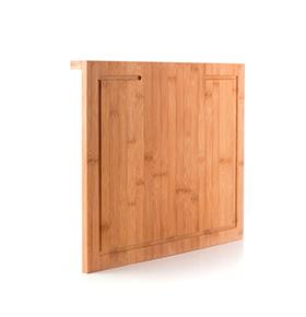 Tábua de Cortar em Bambu c/ Encaixe e Bandeja Deslizante