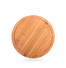 Base Circular em Bambu    Cinza