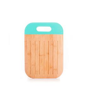 Tábua de Cortar em Bambu c/ Punho | Azul Turquesa