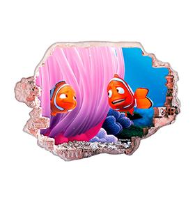 Vinil de Parede 3D Disney | Nemo