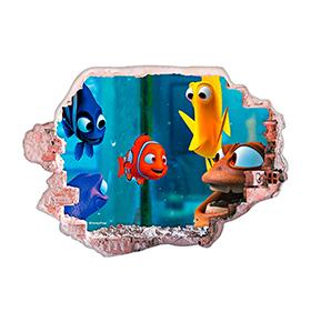 Vinil de Parede 3D Disney | Nemo e Amigos