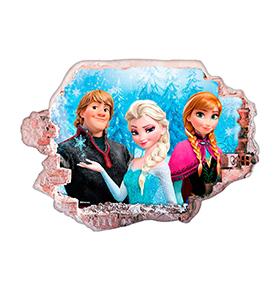 Vinil de Parede 3D Disney | Frozen