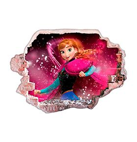 Vinil de Parede 3D Disney | Frozen Ana