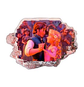 Vinil de Parede 3D Disney | Rapunzel e Flynn