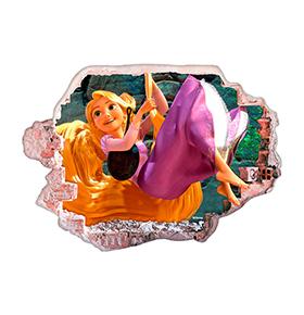 Vinil de Parede 3D Disney | Rapunzel