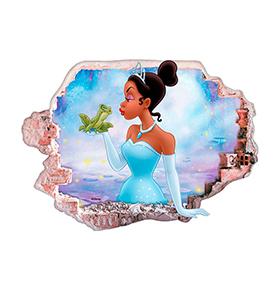 Vinil de Parede 3D Disney |A Princesa e o Sapo