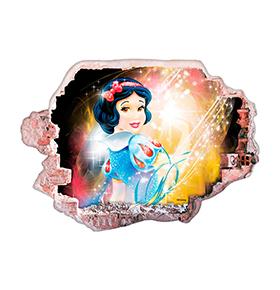 Vinil de Parede 3D Disney | A Branca de Neve
