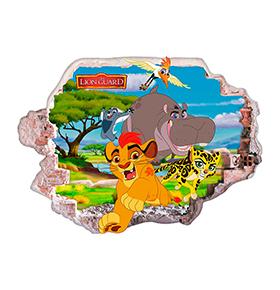 Vinil de Parede 3D Disney | Rei Leão e Amigos