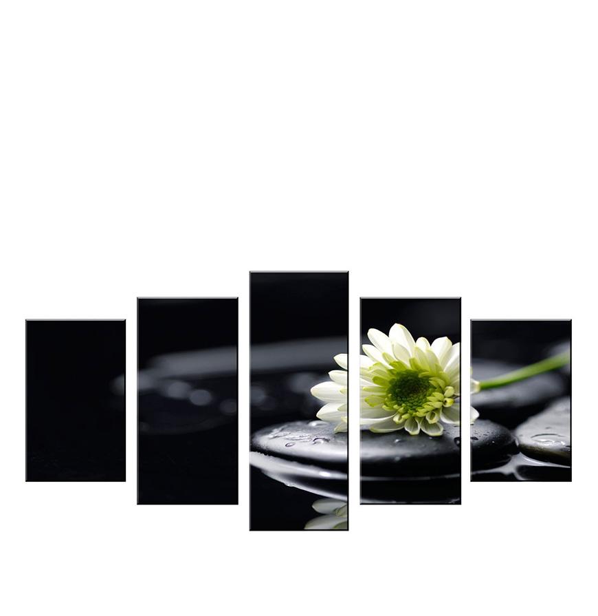Quadro Políptico de Lona Flores   100 X 60