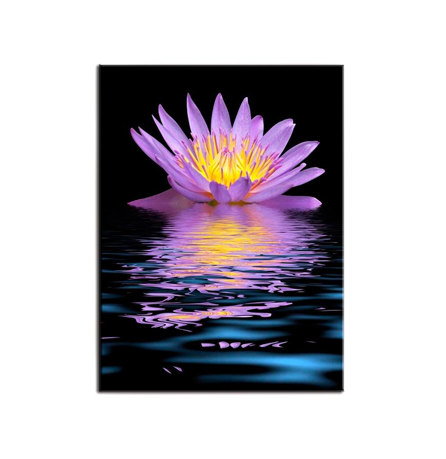 Quadro de Lona Flor Lilás   80 X 60