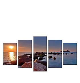 Quadro Políptico de Lona Pôr do Sol | 100 X 60