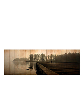 Quadro de Lona Neblina | 120 X 40