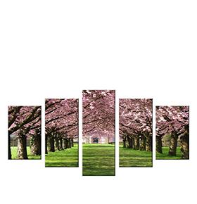 Quadro Políptico de Lona Árvores | 100 X 60