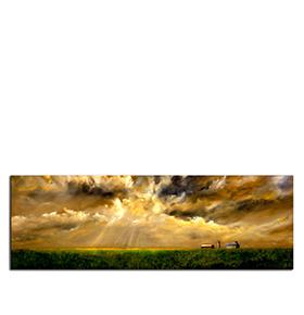 Quadro de Lona Nuvens | 120 X 40