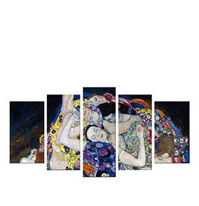 Quadro Políptico de Lona Gustav Klimt | 100 X 60