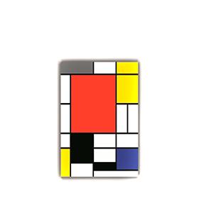 Quadro de Lona Piet Mondrian | 80 X 60