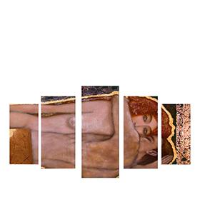 Quadro Políptico de Lona Abraço Mulheres | 100 X 60