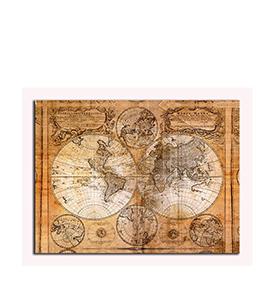 Quadro de Lona Mapa Antigo | 80 X 60