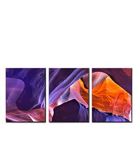 Quadro Tríptico de Lona Rochas | 105 X 45