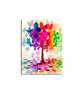 Quadro de Lona Arvore Colorida | 80 X 60