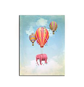 Quadro de Lona Elefante e Balão | 80 X 60