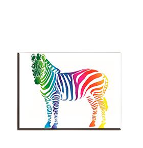 Quadro de Lona Zebra | 80 X 60