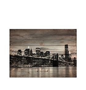 Quadro de Madeira New York City | 70 X 50