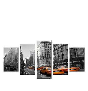 Quadro Políptico de Lona Taxis | 100 X 60