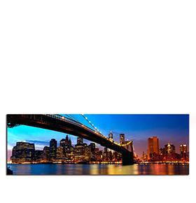 Quadro de Lona New York City II | 120 X 40