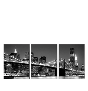 Quadro Tríptico de Lona New York City IV | 105 X 45