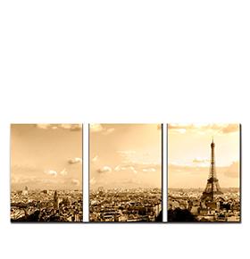 Quadro Tríptico de Lona Paris   105 X 45