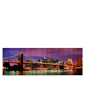 Quadro de Lona Ponte do Brooklyn | 120 X 40