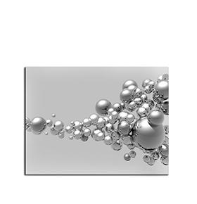 Quadro de Lona Bolas Cinzas | 80 X 60